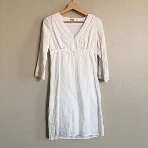 Athleta size XXS white dress 100% linen